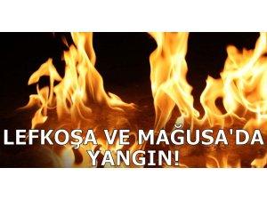 LEFKOŞA VE GAZİMAĞUSA'DA YANGIN!