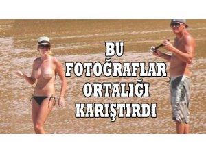 ÜSTSÜZ FOTOĞRAFLARI ORTALIĞI KARIŞTIRDI!