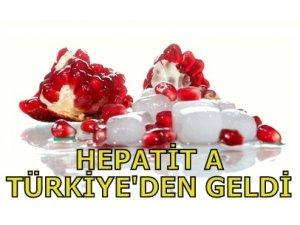 HEPATİT A TÜRKİYE'DEN GELDİ