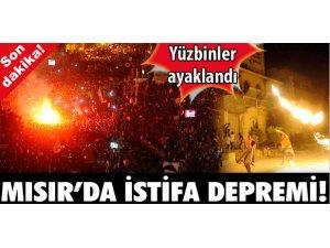 MISIR'DA İSTİFA DEPREMİ!