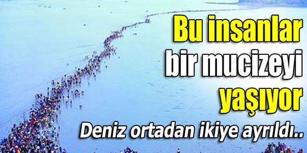 DENİZ ORTADAN İKİYE AYRILDI!
