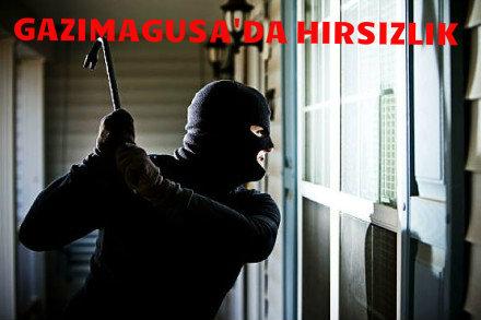 GAZİMAGUSA'DA HIRSIZLIK