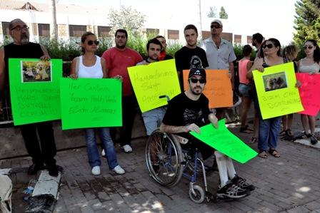 SOKAK HAYVANLARININ ÖLDÜRÜLMESİNİ PROTESTO ETTİLER