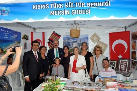 1. MERSİN KÜLTÜR FESTİVALİNDE 'KIBRIS EVİ' KURULDU