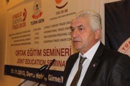 TÜRK-SEN'İN ITUC-PERC VE ETUC İLE ORTAK DÜZENLEDİĞİ SEMİNER