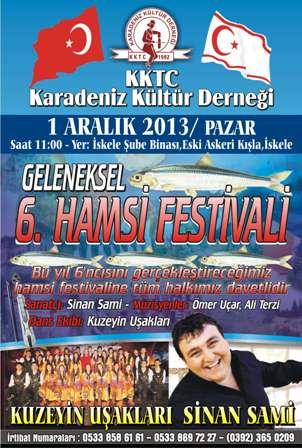 GELENEKSEL HAMSİ FERSTİVALİ'NİN 6'SI 1 ARALIK'TA...