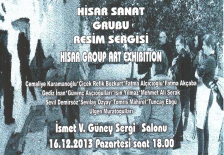 HİSAR SANAT GRUBU'NUN 2. SERGİSİ PAZARTESİ