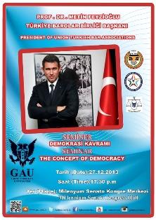 """DEMOKRASİ KAVRAMI"" KONULU SEMİNER"