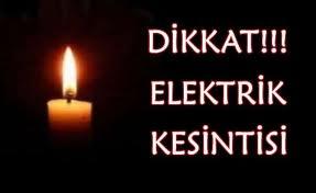 ELEKTRİK KESİNTİSİ...