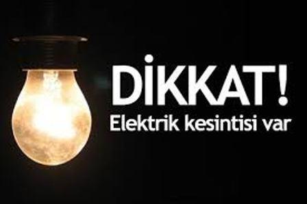 ELEKTRİK KESİNTİLERİ BAŞLADI...