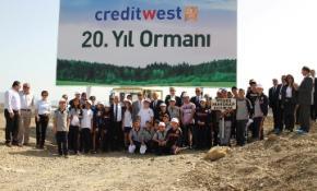 CREDİTWEST BANK'IN 20'NCİ YILDA 20 BİN FİDAN PROJESİ