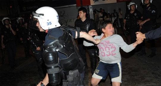 SOMA PROTESTOSU ESNASINDA 13 YAŞINDAKİ ÇOCUĞA GÖZALTI