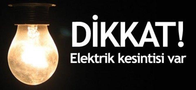 BAKIM ÇALIŞMASI NEDENİYLE ELEKTRİKLER GİDİYOR...