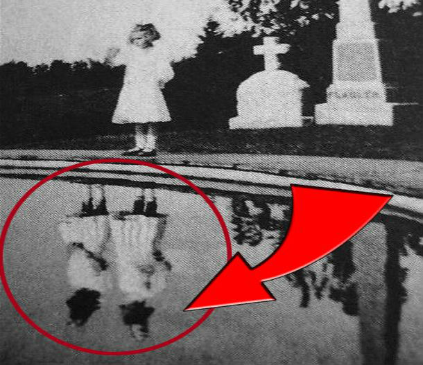 Sudaki yansıma bir hayalet mi?