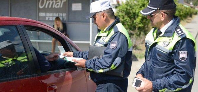 POLİS, GÜZELYURT VE LEFKE'DE SÜRÜCÜLERE GÖZ AÇTIRMADI