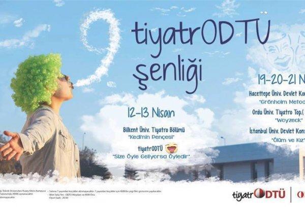 """""""9. TİYATRODTÜ ŞENLİĞİ"""" BAŞLIYOR"""