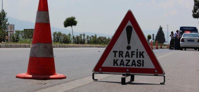 GİRNE'DE KORKUTAN KAZA! 3 YARALI