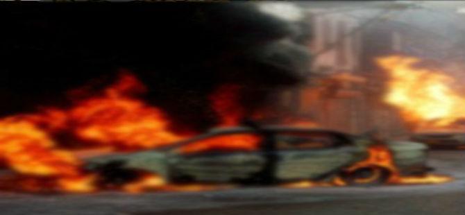 KIBRIS'TA İŞADAMININ ARACINA BOMBA