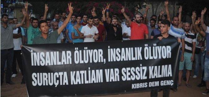 SURUÇ KATLİAMI LEFKOŞA'DA PROTESTO EDİLDİ