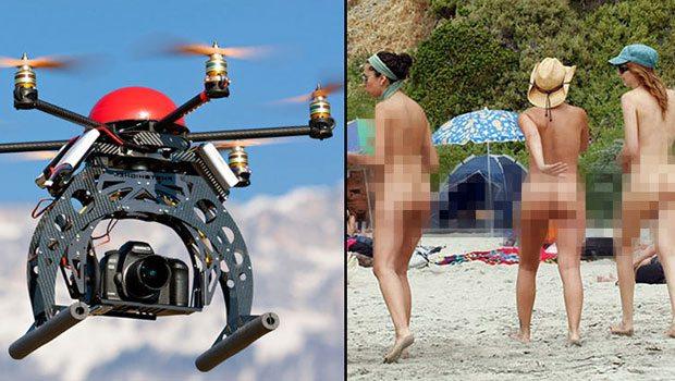 Çıplaklar plajında kamera şoku