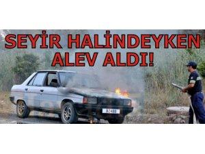 SEYİR HALİNDEYKEN ALEV ALDI!