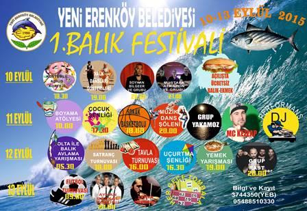 YENİ ERENKÖY'DE BALIK FESTİVALİ