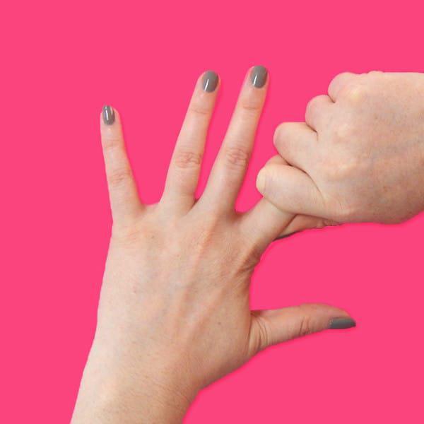 Bu parmağınızı 20 saniye boyunca sıkınca...