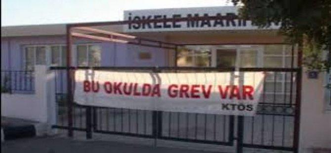 İSKELE MAARİF ANAOKULU'NDA GREV YARIN DA DEVAM EDECEK