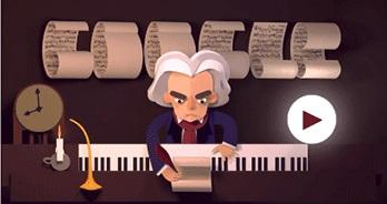 Google'dan Beethoven'ın doğum gününe özel doodle!