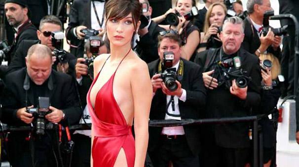 Bella Hadid'in olay elbisesinin sırrı çözüldü!