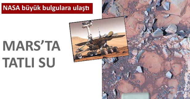 MARS'TA TATLI SU BULUNDU