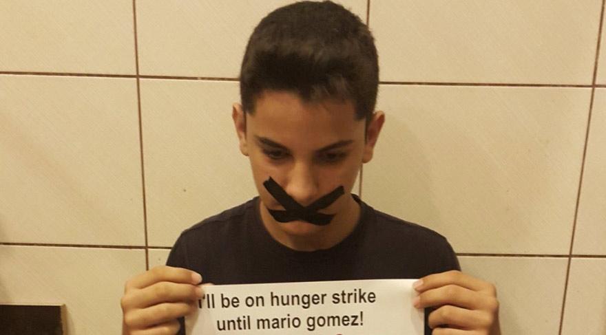 14 yaşındaki çocuktan açlık grevi